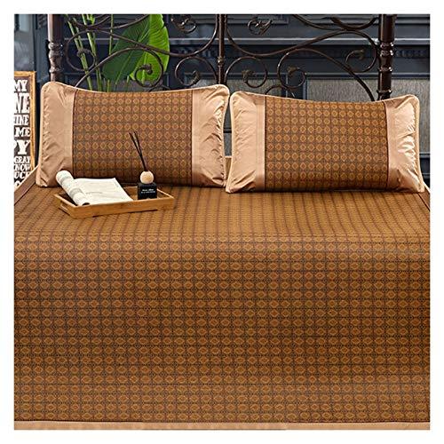 ALGWXQ Colchón de Ratán de Hierba Alta Tenacidad Endotérmico Bambú Cojín de La Estera para Dormir Usado para Sala, Cuarto, Dormitorio, Variedad de Estilos (Color : A, Size : 90X190cm)