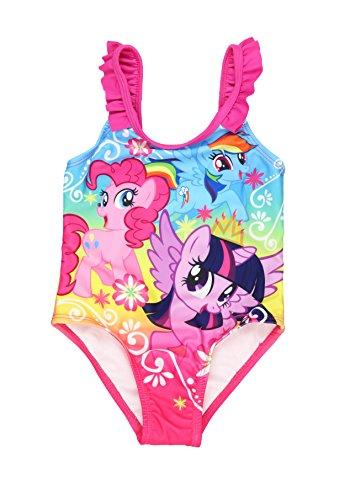 My Little Pony Girls Swimwear Swimsuit (2T, Pink Ruffles One Piece)
