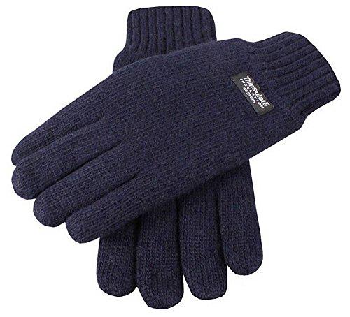 Dents Plaine Marine gants tricotés - Grand de