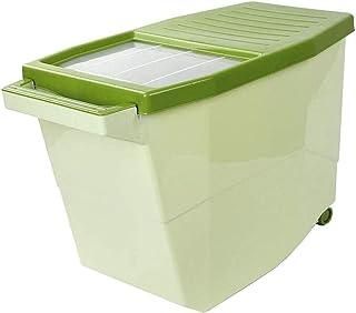 AWAING Bocaux Céréales Conteneurs de riz Boîte de rangement de push-pull gardecourroie Conception de cuisine en plastique ...