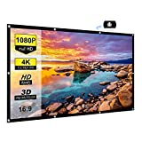 Chalpr Projector Screen 84 inch 16:9 HD Anti-Crease Portable Projection Screen, Foldable Indoor Outdoor Projector Movies Screen for Home Theater Support Double Sided Projection