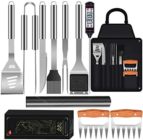 JYSW BBQ Grill Accessories 12PCS Stainless Steel Grilling BBQ Tool Set with Metal Meat Claws product image