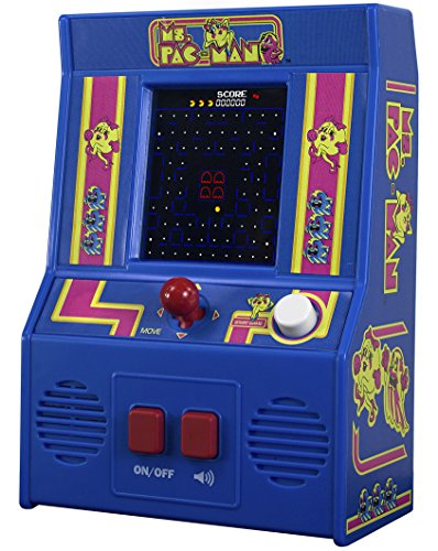 Basic Fun!. 09614 ms Pac-Man Mini Arcade Game (4 C Sceen), Multicolore