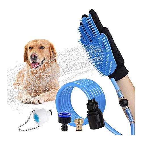 WSJF Huisdier Badgereedschap, Hond Accessoires Verstelbare Hond Douche Bevestiging Hond Badbenodigdheden Washandschoen Douche Kit Pak Voor Hond Kat