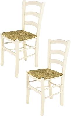 Tommychairs Set 2 sedie Modello Venice per Cucina e Sala