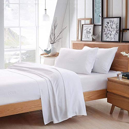 trendbeddingmart 100% Egyptian Cotton Sheets, White King Sheets Set, 800 Thread Count Long Staple Cotton, Sateen Weave for Soft and Silky Feel, Fits Mattress Upto 18'' DEEP Pocket