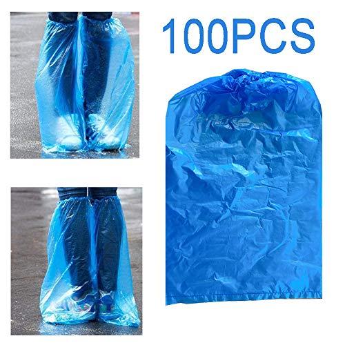 HHORD Shoe 100 Pz Monouso Copriscarpe Lungo Impermeabile Copristerzo Monouso Antipioggia Overshoe Stivali