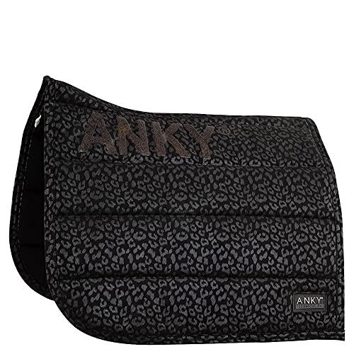 Anky Tapis de Selle Leopard Dressage - Noir-Dressage Cheval