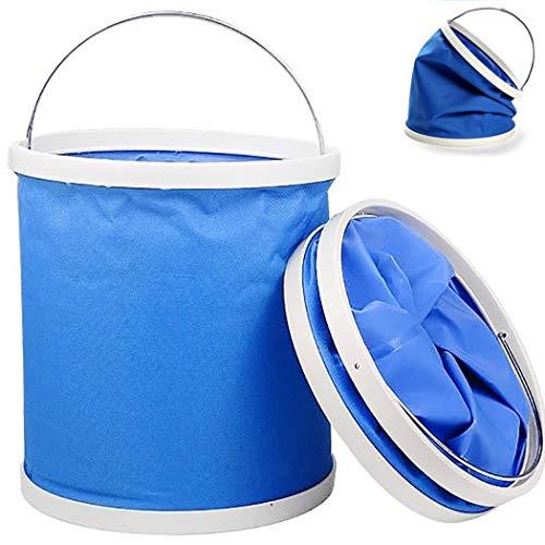Cubo Plegable, Cubo Plegable Al Aire Libre: Adecuado Para Acampar, Pescar, Lavar...