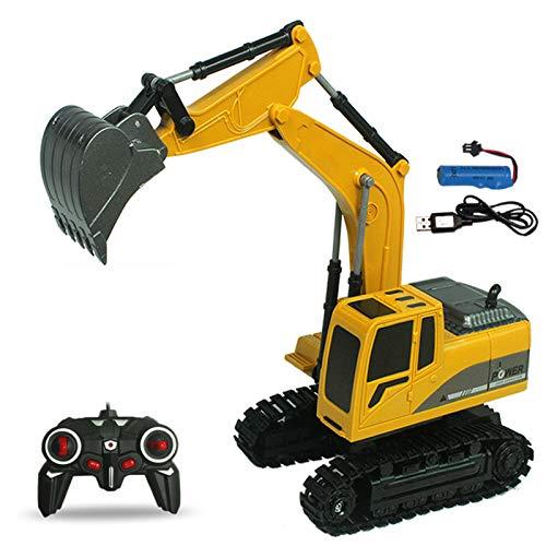 LJKD Camión de Control Remoto para niños, con Sonido de Control Remoto Excavadora Excavadora Juguete niño y niña