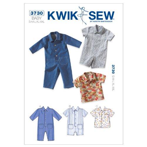 Kwik Sew K3730 Schnittmuster für Overalls und Hemden, Größe S-M-L-XL-XXL