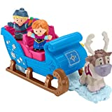 Fisher-Price Disney Frozen Kristoff s Sleigh by Little People, Figure and Vehicle Set