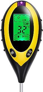 MAOZUA Soil Tester 4-in-1 Gartengeräte für PH, Temperatur, Sonnenlicht und Feuchtigkeit..