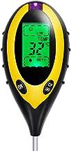 MAOZUA 4-in-1 Soil Tester Moisture Meter PH Levels Temperature Sunlight Lux Intensity Survey Instrument Large Backlit LCD ...