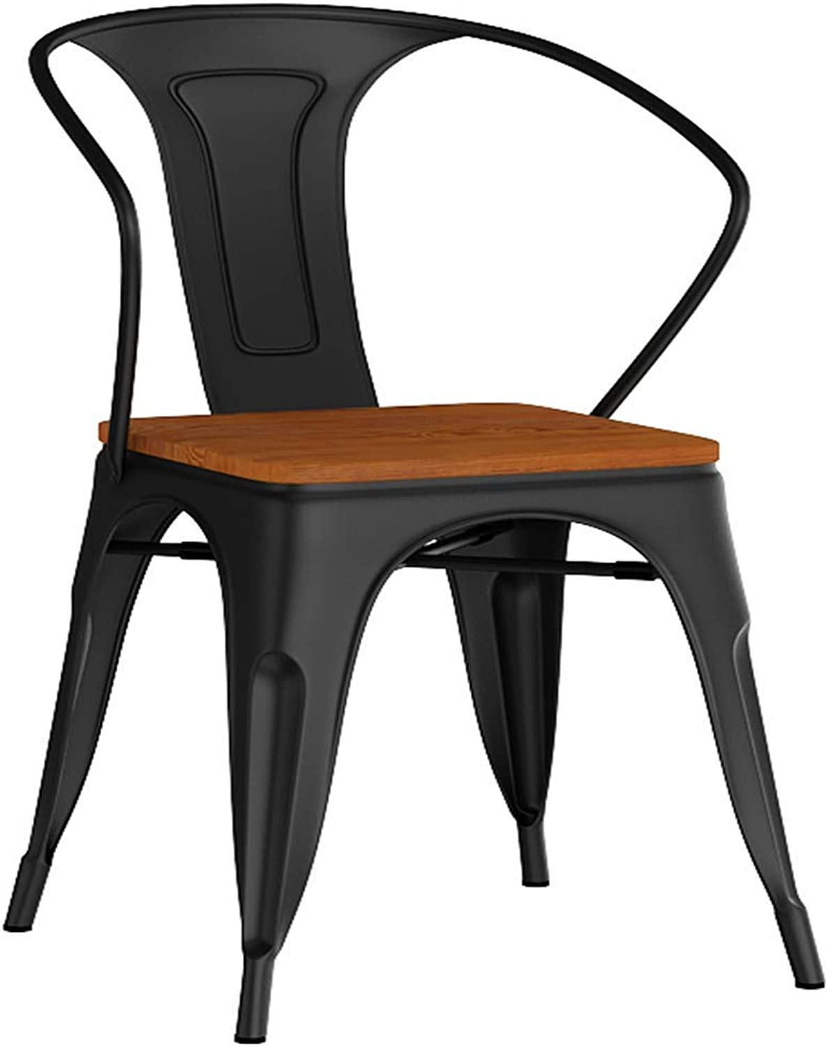 LLYU American Iron Dining Chair Single Stool Backrest Lounge Chair Coffee Chair Simple Office Conference Chair Computer Chair