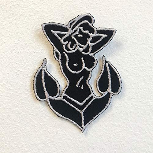 Zeeman kleding Fancy jurk Anker Lady Iron op naaien op geborduurde patch