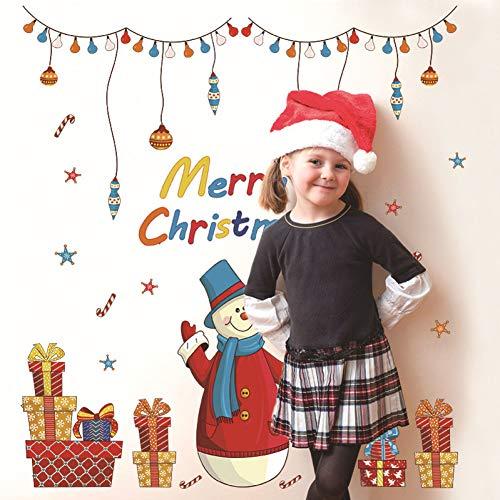 TYOLOMZ Kerst Ornamenten Kids Kamer Raam Sticker Kerstmis Winter Decoraties Stickers voor Kleuterschool Nieuwjaar Versieringen