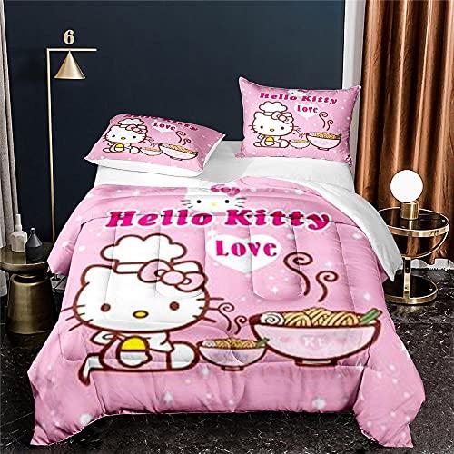 Funda Nordica 135X200 Cm Hello Kitty Fundas Nordicas Modernas con 2 Fundas De Almohada 50X70 Cm...