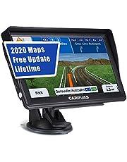 Navegación GPS para Coches Dispositivo de Navegación, Mapa CARRVAS Sistema de Navegación de 7 Pulgadas para Camiones y UE 2020 Últimos Mapas