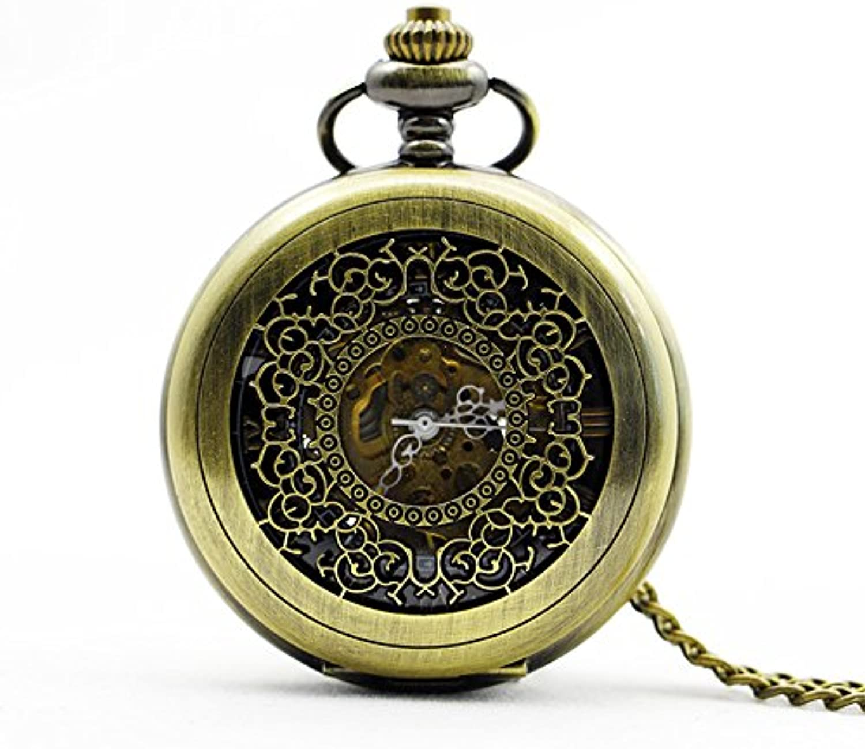 XM Retro Guihua hollow digital male and female mechanical pocket watch
