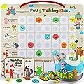 PutskA Potty-Training-Magnetic-Reward-Chart for Toddlers - Potty Chart with Multicolored Emoji & Star Stickers – Motivational Toilet Training for Boys & Girls (Animal Theme) from PUTSKA