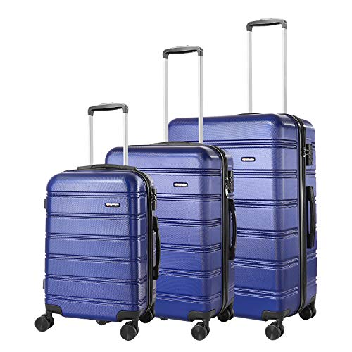REYLEO 3 Piece Luggage Sets Hard Shell Luggage with TSA Lock Spinner Double Wheels 20 Inch 24 Inch...