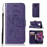 pinlu® Housse pour Motorola Moto X4 Exquis PU Cuir Flip Cover Etui Stent Function avec Card Slot...