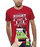 PIXEL EVOLUTION T-Shirt 3D Rugby Start Jeux Video en Réalité Augmentée Homme - Taille XL - Rouge