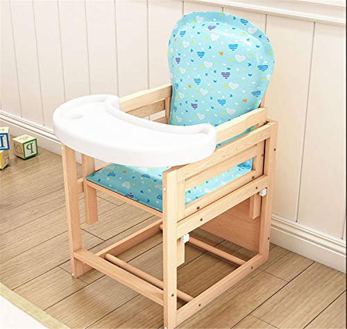 Best Price Baby High Chair Wooden Natural Highchair Adjustable Wipe Clean Detachable Comfortable Cus...