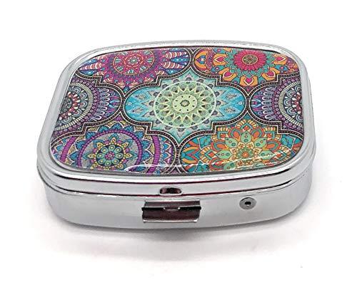 MovilCom® Pastillero diario de bolsillo organizador 2 compartimentos, pastillero organizador pastillas toma diaria, caja medicamentos (mod.653201)