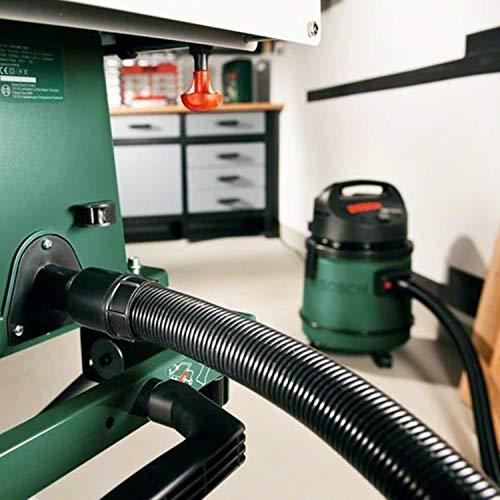 Bosch DIY Tischkreissäge PTS 10 T, Untergestell, Spaltkeil, Tischverlängerung, Winkelanschlag, Absaugschlauch, Karton (1400 W, Kreissägeblatt Nenn-Ø  254 mm, Schnitttiefe bei 90° 75 mm) - 8