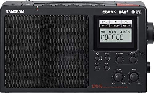 Sangean DPR45DAB+ Tragbares Digital-Radio (LCD-Display, DAB+, FM-RDS)