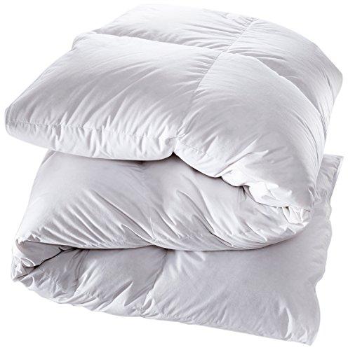 Manteuffel Daunendecke, 100% Baumwolle, Weiß, 135 x 200 cm