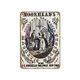 No Branded 1848 - Letrero de metal con diseño de máquinas magnéticas de Moorhead