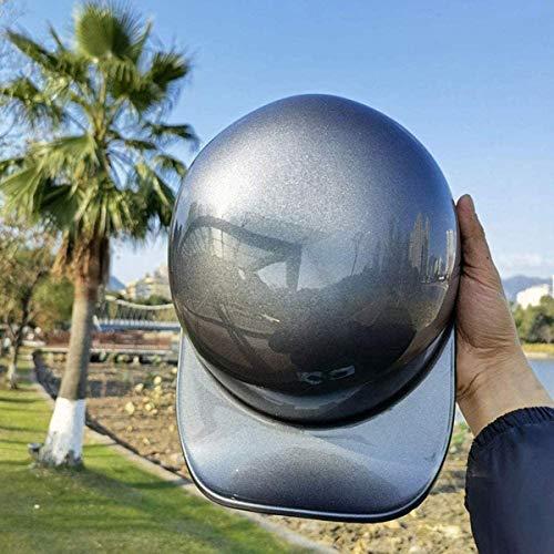 qwert Medio casco de motocicleta, gorra de béisbol con personalidad certificada DOT, casco retro de motocicleta, para hombres y mujeres, adecuado para Cruiser Moped Scooter Skull Hat (54-62cm)