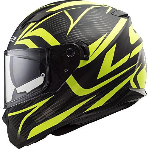 LS2 - Casco de moto Stream, Evo Jink Matt, color negro y amarillo, tal