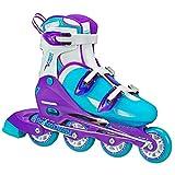 Roller Derby Women's V-Tech 500 Button Adjustable Inline Skate, Blue/Purple
