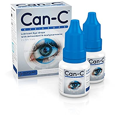 Can-C (N.A.C.) Eye Drops, Lubricant eyedrops with antioxidant n-acetylcarnosine. 2 Vials of 5 ml by Profound Products