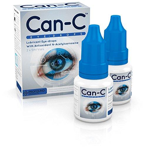 Can-C (N.A.C.) Augentropfen, Gleitmittel mit Antioxidans n-Acetylcarnosin. 2 Durchstechflaschen mit 5 ml