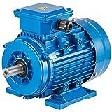 Mophorn Motor Eléctrico Monofásico 750W, Motores Eléctricos de Alta Calidad 3 Fases Motor Hormigonera, Base Rígido Motor Hormigonera Eléctrico B3, Voltaje 2 Polos Potencia 0.75 KW