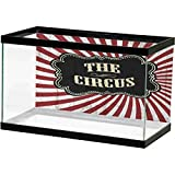 ScottDecor Circus Aquarium Background Sticker Classical Circus Show Event Banner Advertisement Antique Art Logotype Art for Aquariums Ruby Cream Emerald L36 X H16 Inch