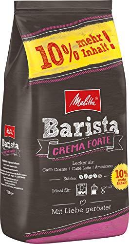 Melitta Ganze Kaffeebohnen, kräftig und vollmundig, Stärke 4, Barista Crema Forte, 1100 g