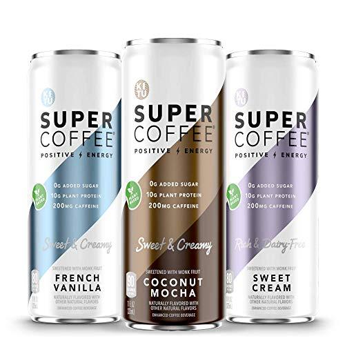Kitu Super Coffee, Iced Keto Coffee (0g Added Sugar, 10g Protein, 70 Calories) [Variety Pack] 11 Fl Oz, 12 Pack | Iced Coffee, Protein Coffee, Coffee Drinks - Lactose Free, Soy Free, Gluten Free