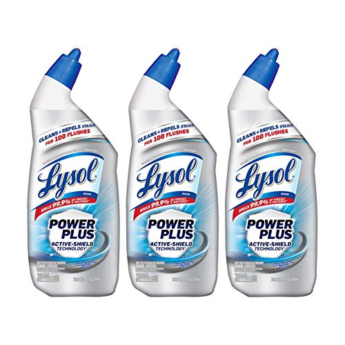 Lysol Toilet Bowl Cleaner Power Plus Atlantic Fresh 24 oz (Pack of 3)