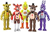 Provide Inspired by Five Nights at Freddy's Action Figures Toy Set of 5 pcs FNAF Action Figures 6 inches Toys Dolls Gifts Cake Toppers, Foxy Articulated Action, Toys Dolls, Chritmas Gifts