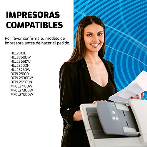 QP2420D 2 Cartucho de Toner Compatible TN2420 y impresoras Brother DCP L2510D L2530DW L2550DN, HL L2310D L2350DW L2370DN L2375DW, MFC L2710DN L2710DW L2730DW L2750DW