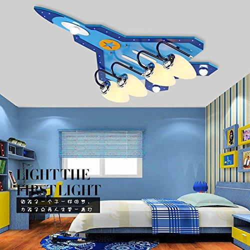 owow simple moderne salle pour enfants merveilleux et cool cartoon avions oeil LED Fighter plafonnier pour les garçons ou filles séjour Décoration plein d'imagination, 580 * 400 mm