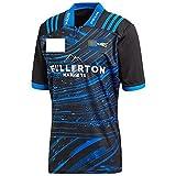 DSDFD Maillot Rugby Hurricanes 2018 Bleu Chemise de Fan de Rugby brodée Chemises d'entraînement pour Hommes, Femmes et Enfants (Bleu) Blue L