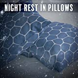 Night Rest in Pillows - Moment of Dreams, Time for Bed, Warm Blanket, Milk before Bedtime, Moon and Stars in the Sky