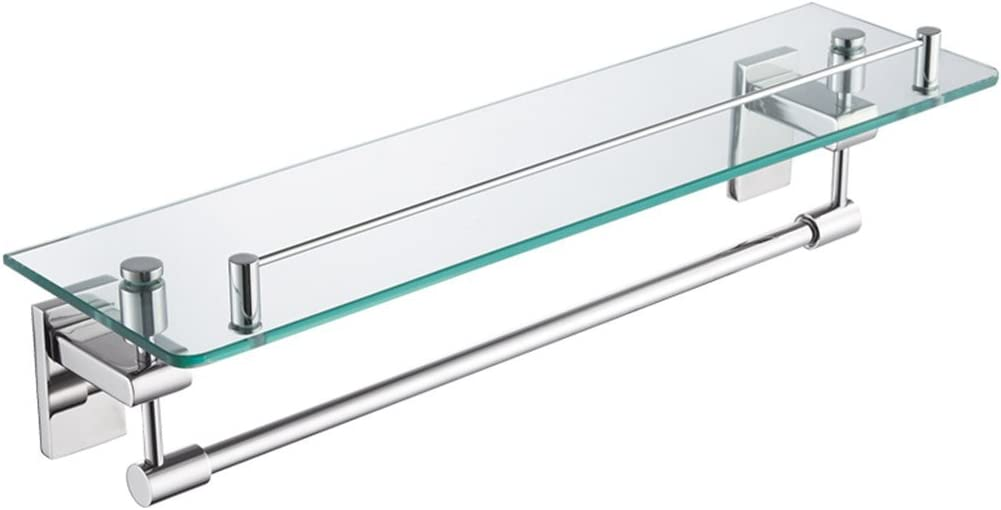 HLWJXS Bathroom Towel Rack Single-Layer Shipping included Shelf Wall-Mounted Glass cheap